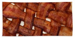 Hand Towel featuring the photograph Bacon Weave by Andee Design