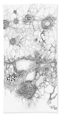 Bacteriophage Ballet Bath Towel by Regina Valluzzi