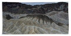 Badlands At Sunrise. Death Valley Bath Towel
