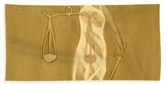 Hand Towel featuring the painting Balance 3 by Lorna Maza