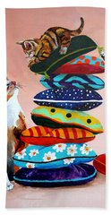 Balancing Act Hand Towel by Sherry Shipley