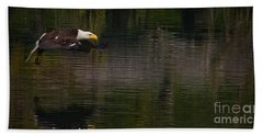 Hand Towel featuring the photograph Bald Eagle #1307 by J L Woody Wooden