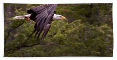 Bath Towel featuring the photograph Bald Eagle   #6865 by J L Woody Wooden