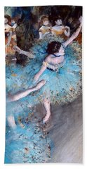 Ballerina On Pointe  Hand Towel