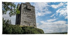 Ballinalacken Castle In Ireland's County Clare Hand Towel