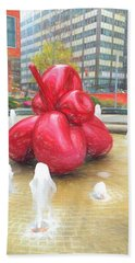 Balloon Flower In The Water Hand Towel