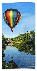 Balloons Over Quechee Vermont Stain Glass Bath Towel