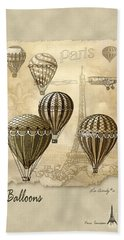 Balloons With Sepia Hand Towel