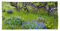 Balsamroot And Lupine Flowers Hand Towel
