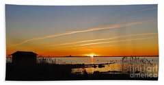 Baltic Sea Sunset Hand Towel