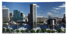 Baltimore Inner Harbor Panorama Bath Towel