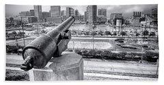 Baltimore Inner Harbor Skyline Hand Towel