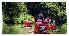 Bamboo River Rafting Hand Towel