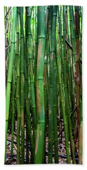 Bamboo Trees, Maui, Hawaii, Usa Hand Towel