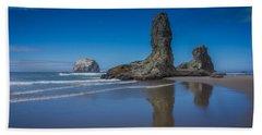 Bandon Oregon Sea Stacks Bath Towel