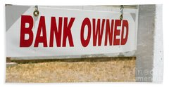 Bank Owned Real Estate Sign Hand Towel