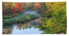 Bantam River Autumn Bath Towel
