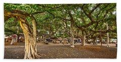 Banyan Tree Park In Maui. Hand Towel