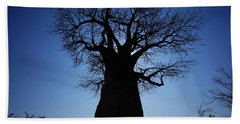 Baobab In The Okavango Delta Botswana Hand Towel