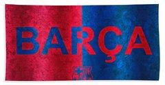 Barcelona Football Club Poster Bath Towel