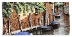 Barche A Venezia Bath Towel