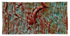 Hand Towel featuring the digital art Bark Layered by Stephanie Grant