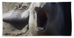 Barking Elephant Seal Hand Towel