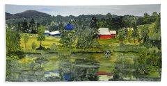 Barn At Little Elk Lake Bath Towel by Christine Lathrop