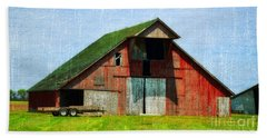 Barn - Central Illinois - Luther Fine Art Hand Towel