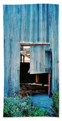 Barn Door... Monroe Co. Michigan Hand Towel by Daniel Thompson