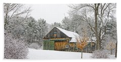 Barn In Winter Hand Towel