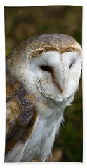 Barn Owl Hand Towel by Scott Carruthers