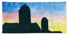 Barn Silhouette 2 Bath Towel