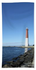 Barnegat Light - New Jersey Hand Towel by Christiane Schulze Art And Photography