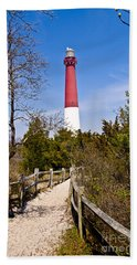 Barnegat Lighthouse II Bath Towel by Anthony Sacco