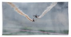 Hand Towel featuring the photograph Barnstormer Late Afternoon Smoking Session by Chris Lord