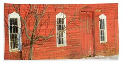 Bath Towel featuring the photograph Barnwall In Winter by Rodney Lee Williams