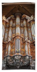 Baroque Grand Organ In Oude Kerk In Amsterdam Bath Towel