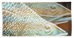 Hand Towel featuring the photograph Barramundi by Holly Kempe