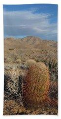 Barrel Cactus In Winter Bath Towel