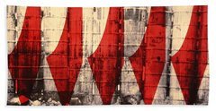 Barriers To Statehood, 1992 Screen Print On Canvas Hand Towel