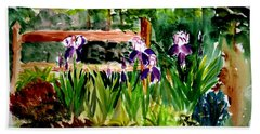 Barton Garden En Plein Air Bath Towel by Donna Walsh