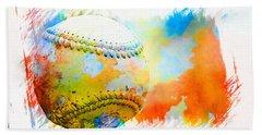 Baseball- Colors- Isolated Bath Towel