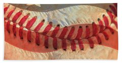Baseball Is Sewn Into The Fabric Hand Towel