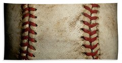 Baseball Seams Bath Towel by David Patterson