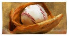 Baseball V Hand Towel