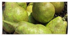 Basket Of Green Pears Bath Towel