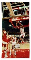Basketball Match In Progress, Michael Hand Towel