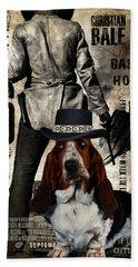 Basset Hound Art Canvas Print - 3 10 To Yuma Movie Poster Bath Towel