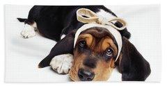 Basset Hound Dog Bath Towel